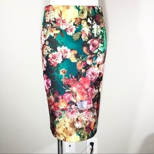 ECI New York Floral Small Pencil SkIrt
